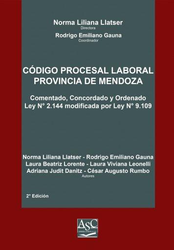 Código Procesal Laboral de la Provincia de Mendoza