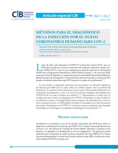 Artículo COVID - Métodos de Detección y Diagnóstico de la Infección por COVID-19