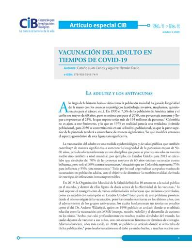 Artículo COVID - Vacunación en tiempos de COVID