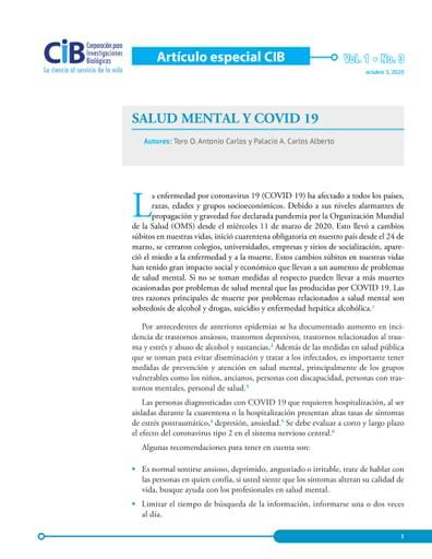 Articulo COVID - Salud mental