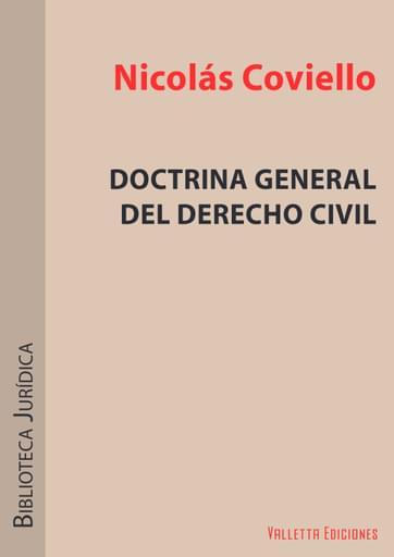 Doctrina General del Derecho Civil