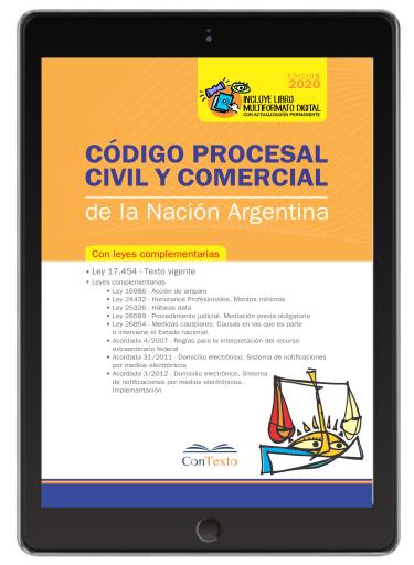 Código procesal civil y comercial de la nación 2020