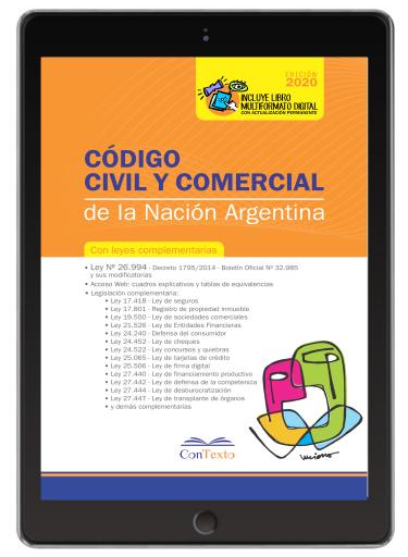 Código civil y comercial de la nación con leyes complementarias 2020