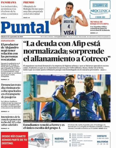 Puntal RC 14 de septiembre de 2019