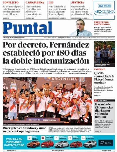Puntal RC 14 de diciembre de 2019
