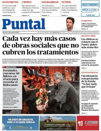 Puntal RC 24 de enero de 2020