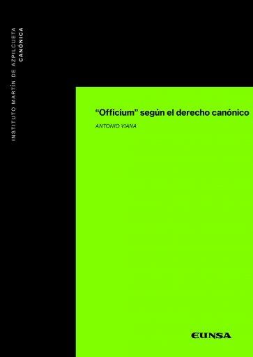 """""""Officium"""" según el derecho canónico"""