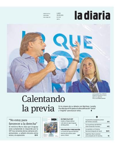 la diaria, lunes 30.09.2019