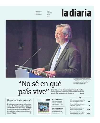 la diaria, lunes 14.10.2019