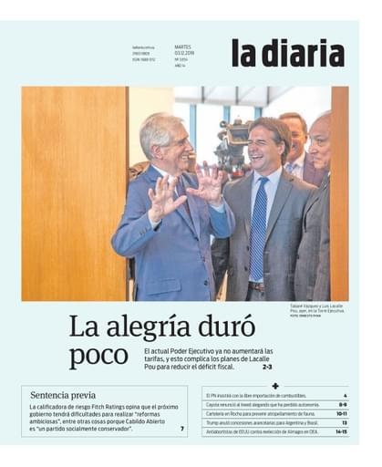 la diaria, martes 03.12.2019