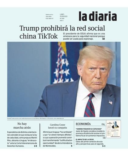 la diaria, lunes 03.08.2020