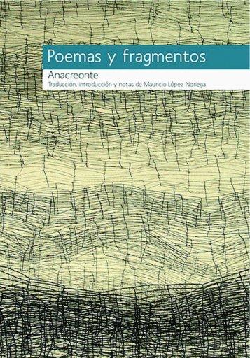 Anacreonte, Poemas y fragmentos