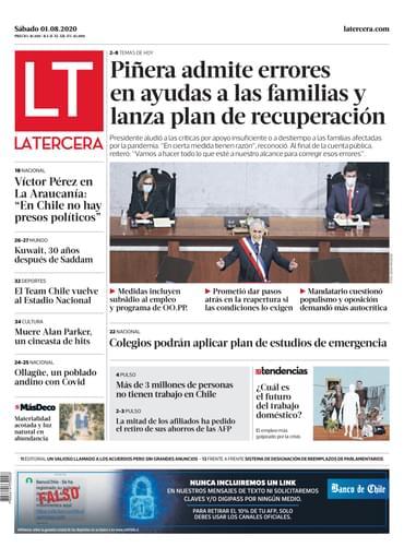 01-08-2020 La Tercera