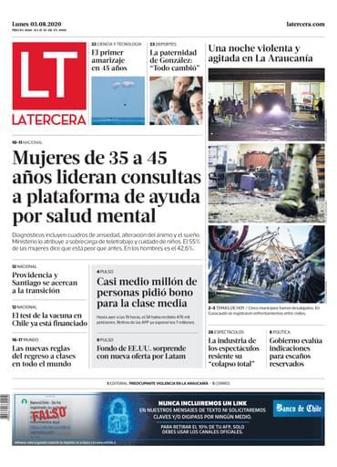 03-08-2020 La Tercera