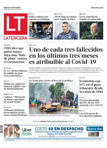 04-08-2020 La Tercera